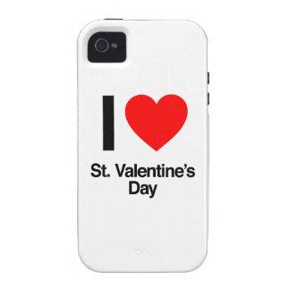 amo el día de San Valentín del St. iPhone 4 Carcasa