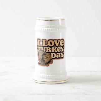 Amo el día Stein de Turquía Jarra De Cerveza