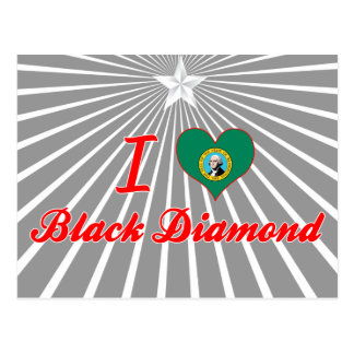 Amo el diamante negro Washington Tarjeta Postal