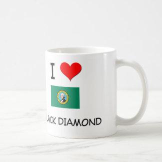 Amo el diamante negro Washington Tazas De Café