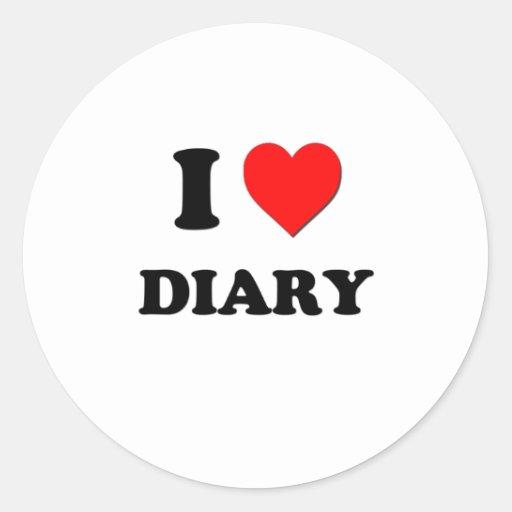 Amo el diario pegatina