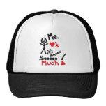 Amo el dibujo animado del fútbol gorras de camionero
