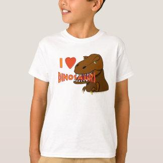 Amo el dibujo animado Tyrranosaurus Rex de los Remeras