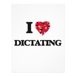 """Amo el dictar folleto 8.5"""" x 11"""""""