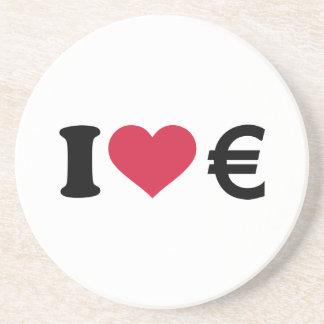 Amo el dinero euro posavasos cerveza