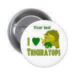 Amo (el dinosaurio lindo del Triceratops del coraz Pins