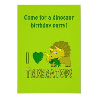 Amo (el dinosaurio lindo del Triceratops del Anuncios Personalizados