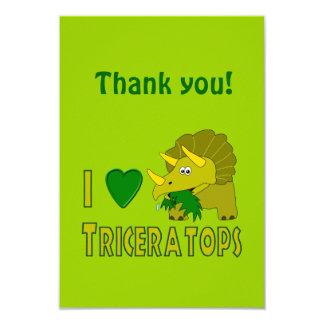 Amo (el dinosaurio lindo del Triceratops del Anuncio Personalizado