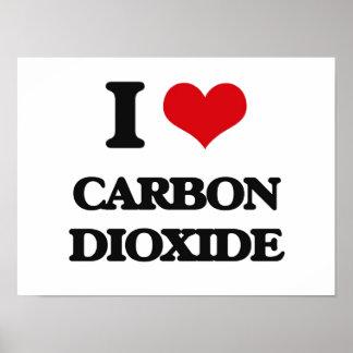 Amo el dióxido de carbono póster