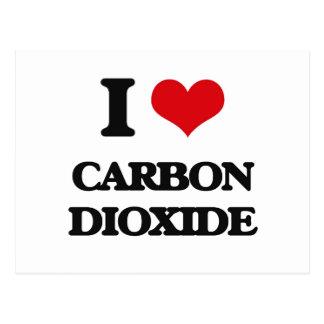 Amo el dióxido de carbono postales