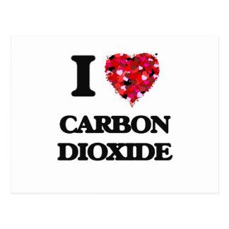 Amo el dióxido de carbono tarjetas postales