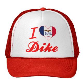Amo el dique, Iowa Gorras De Camionero