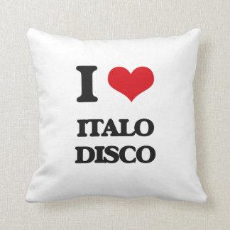 Amo el DISCO de ITALO Almohada