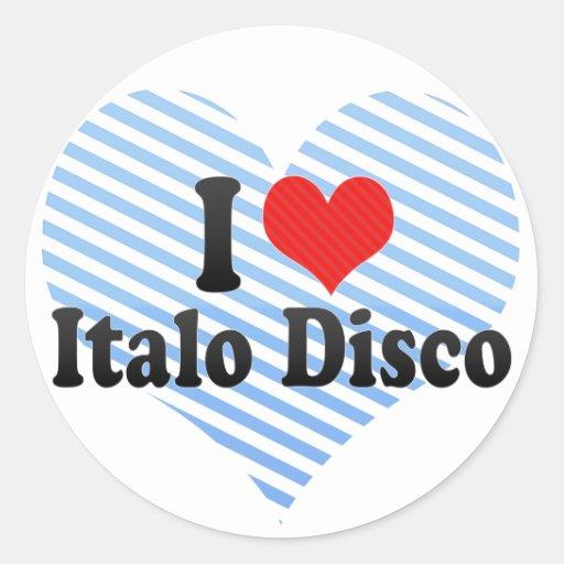 Amo el disco de Italo Etiqueta