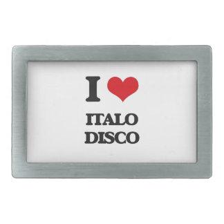 Amo el DISCO de ITALO Hebillas De Cinturon Rectangulares