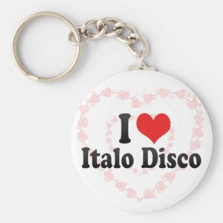 Amo el disco de Italo Llavero Personalizado