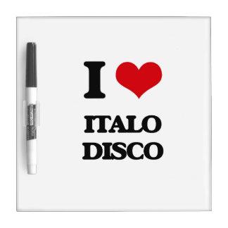 Amo el DISCO de ITALO Tablero Blanco