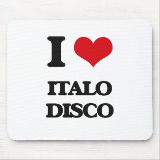 Amo el DISCO de ITALO Alfombrilla De Ratón