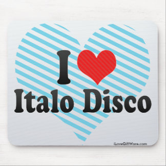 Amo el disco de Italo Alfombrillas De Ratones