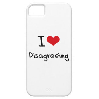 Amo el discrepar iPhone 5 Case-Mate protector