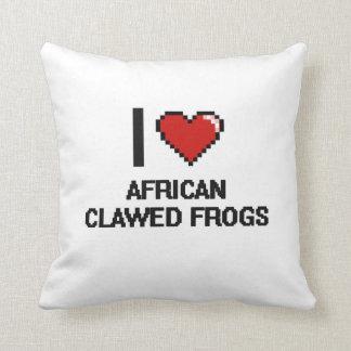 Amo el diseño agarrado africano de Digitaces de Almohada