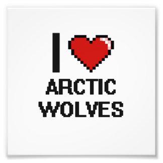 Amo el diseño ártico de Digitaces de los lobos Fotografías