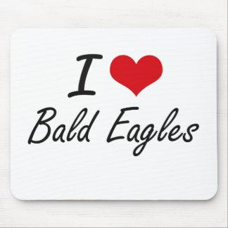 Amo el diseño artístico calvo de Eagles Mouse Pads