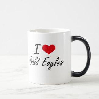 Amo el diseño artístico calvo de Eagles Taza Mágica