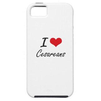 Amo el diseño artístico de Cesareans iPhone 5 Funda
