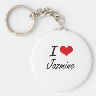 Amo el diseño artístico de Jazmine Llavero Redondo Tipo Pin