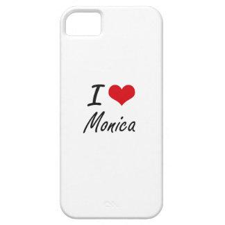 Amo el diseño artístico de Mónica iPhone 5 Carcasa