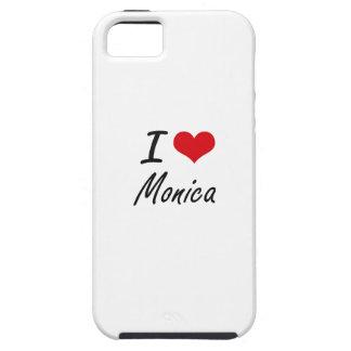 Amo el diseño artístico de Mónica iPhone 5 Funda