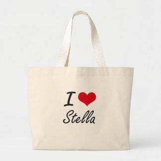 Amo el diseño artístico de Stella Bolsa Tela Grande