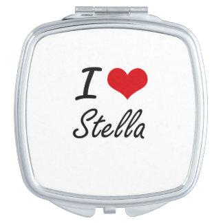 Amo el diseño artístico de Stella Espejo De Viaje
