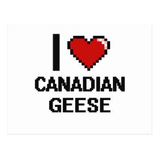 Amo el diseño canadiense de Digitaces de los Postales