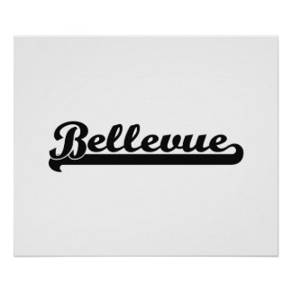Amo el diseño clásico de Bellevue Washington Póster