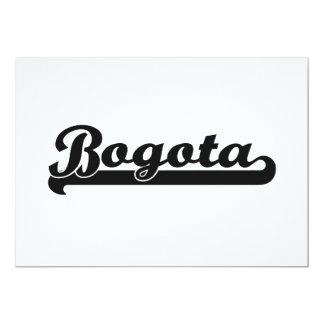 """Amo el diseño clásico de Bogotá Colombia Invitación 5"""" X 7"""""""