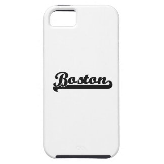 Amo el diseño clásico de Boston Massachusetts iPhone 5 Carcasa