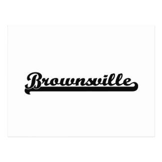 Amo el diseño clásico de Brownsville Tejas Tarjetas Postales