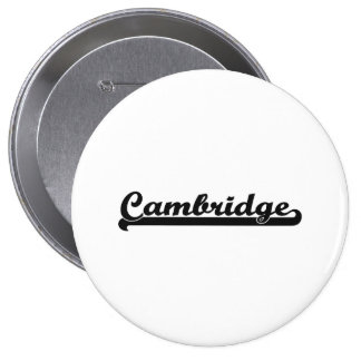 Amo el diseño clásico de Cambridge Massachusetts Pin Redondo 10 Cm