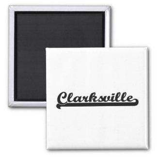 Amo el diseño clásico de Clarksville Tennessee Imán Cuadrado