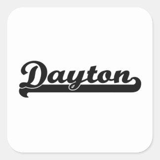 Amo el diseño clásico de Dayton Ohio Pegatina Cuadrada