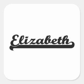 Amo el diseño clásico de Elizabeth New Jersey Pegatina Cuadrada