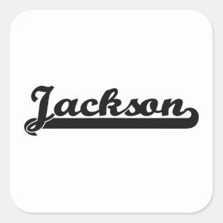 Amo el diseño clásico de Jackson Mississippi Pegatina Cuadrada