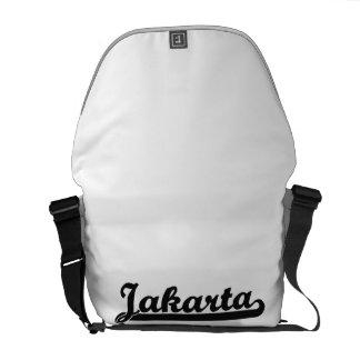 Amo el diseño clásico de Jakarta Indonesia Bolsas De Mensajería