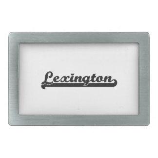 Amo el diseño clásico de Lexington Kentucky Hebillas De Cinturon Rectangulares