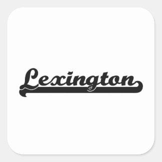 Amo el diseño clásico de Lexington Kentucky Pegatina Cuadrada