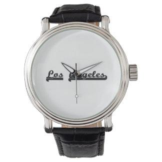 Amo el diseño clásico de Los Ángeles California Reloj