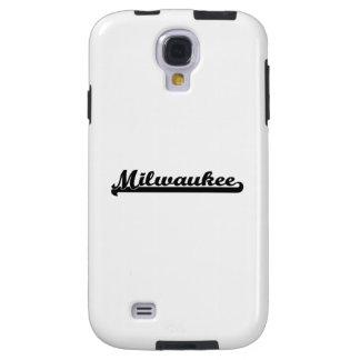 Amo el diseño clásico de Milwaukee Wisconsin Funda Para Galaxy S4
