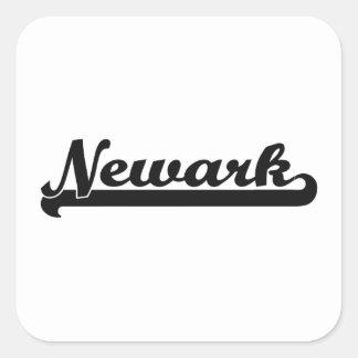 Amo el diseño clásico de Newark New Jersey Pegatina Cuadrada